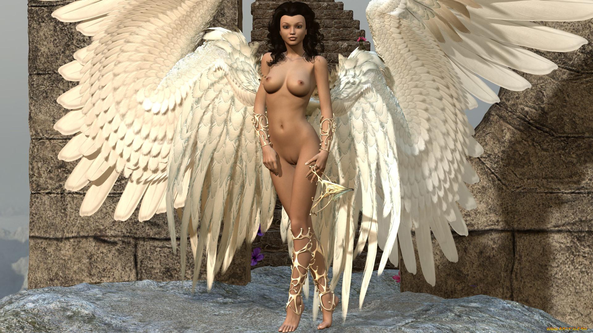 Девушки Голые Ангелы Фото
